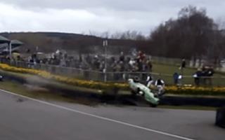Racing driver makes remarkable escape after Goodwood crash