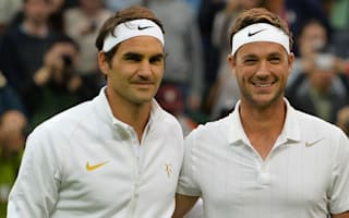 Federer cruises through, but Willis makes his mark