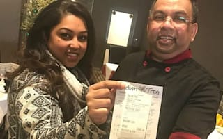 Restaurant staff amazed to find £1,000 tip on £79 bill