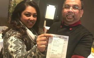 Restaurant staff amazed to find £1,000 tip on £79 bill