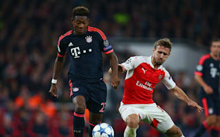 Alaba supported Arsenal as a youngster