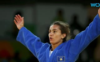 Kosovo's Majlinda Kelmendi got very emotional as she won her country's first ever Olympic medal