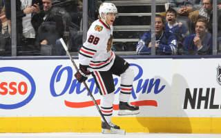 Kane strikes three to lead Blackhawks to victory