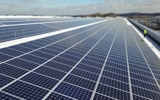 Jaguar installs UK's largest rooftop solar panel