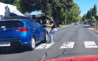 Man saves woman's life by honking his horn