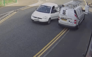 Two men attempt to steal security van from outside firm
