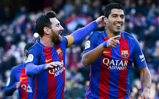 Barcelona 5 Las Palmas 0: In-form Suarez at the double as rampant champions put pressure on Madrid