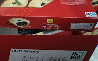 'Christmas cupcakes' have sell-by date of tomorrow