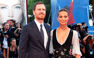 Michael Fassbender and Alicia Vikander at premiere of The Light Between Oceans
