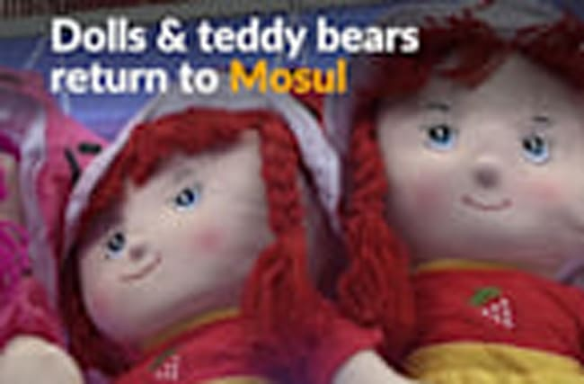 Banned under Islamic State, toys are a welcome return in Mosul