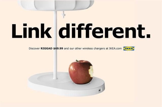 IKEA aprovecha la ola de Apple: relanza su gama de productos Qi con eslóganes de la firma
