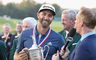 Tiger congratulates Johnson for 'overcoming that rules farce' at U.S. Open