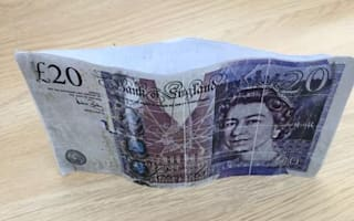Worst fake £20 ever? Two photocopies stapled together