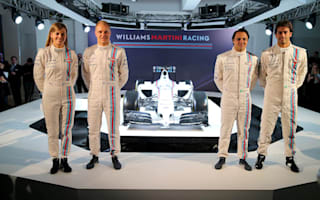 British F1 Driver Susie Wolff shows off Williams' new colours