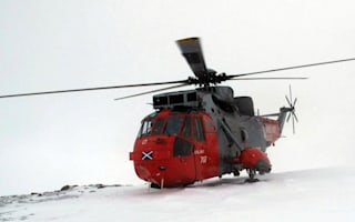 Royal navy helicopter scrambled to rescue toddler stuck in snow in Scotland
