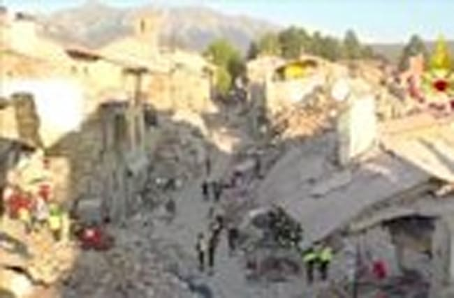 Drone video reveals the disaster of Amatrice