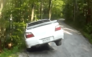 Video: Subaru driver attempts rally-star heroics but fails