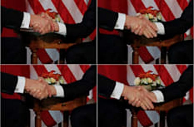The madness and science behind the Donald Trump handshake