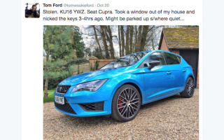 Top Gear journalist has press car stolen from his driveway
