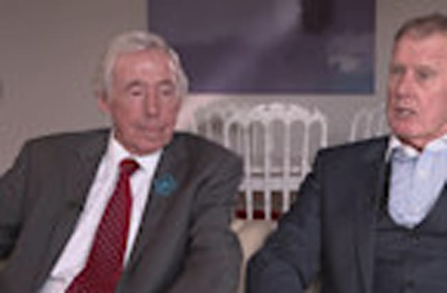 Sir Geoff Hurst and Gordon Banks launch Dementia campaign