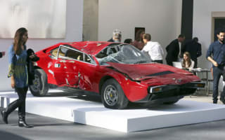Smashed Ferrari Dino sells for £156,000
