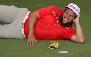 Golfer Johnston agrees to 'birdie, beer and beef triathlon'