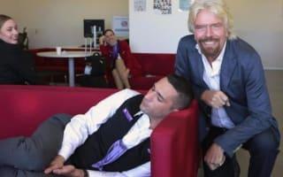 Richard Branson drops by Australian office, catches employee sleeping