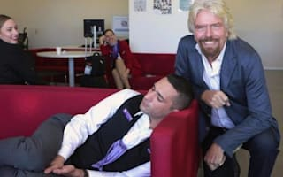 Richard Branson drops by Australian office, catches employee sleeping