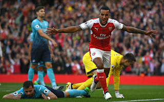 Arsenal 3 Swansea 2: Walcott double sees 10-man Gunners spoil Bradley bow