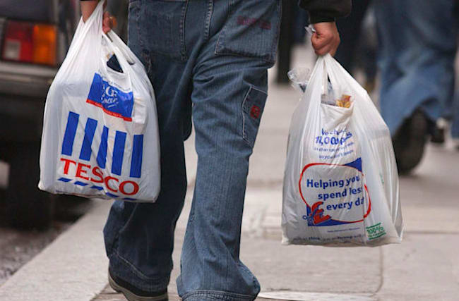 Tesco getting rid of 5p carrier bags