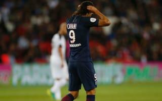 Emery not worried by goal-shy Cavani