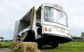 Couple turns milk float into £95-a-night B&amp&#x3B;B room