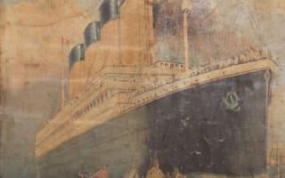 Rare Titanic poster found hidden behind wall