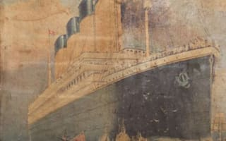 Rare Titanic poster found hidden behind wall