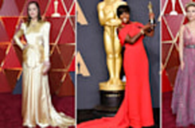 Bright Reds and Metallics Dominate Oscars Fashion And Best Dressed List
