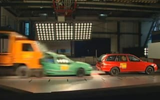 German pile-up crash test is scariest ever