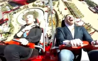 Thrill-seeker gets hit in the face by pigeon on Ferrari Land ride