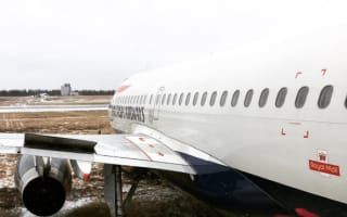 British Airways plane skids off runway at airport in Denmark