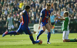 Real Betis 1 Barcelona 1: Suarez snatches point in controversial clash