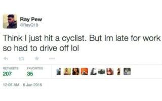Police investigate 'bad joke' tweeting motorist