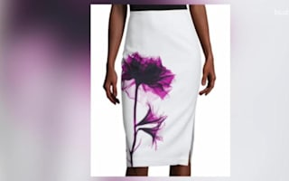 Awkward flower skirt is a fashion fail