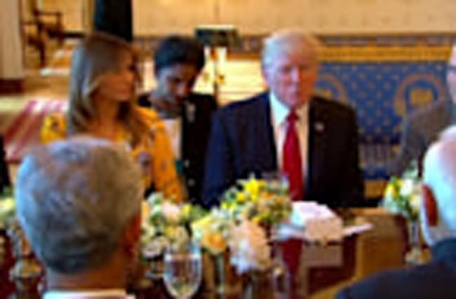 Trump and Modi dine at the White House