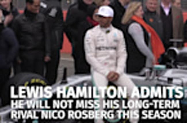 Lewis Hamilton not missing Nico Rosberg as he looks to new season with Mercedes