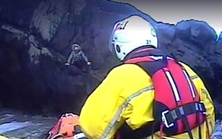 Pensioner rescued by RNLI after spending night in cave
