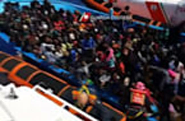 Raw: Thousands of Migrants Rescued Out At Sea