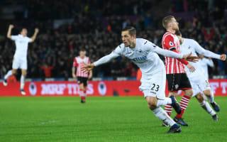 Swansea City 2 Southampton 1: Sigurdsson the saviour as Swans make it two in a row
