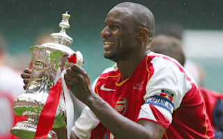 Arsenal lack the Invincibles' personality - Vieira