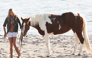 Kate Upton does beach photo shoot in Malibu