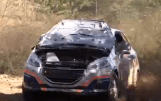 Rally competitor driven by blind determination