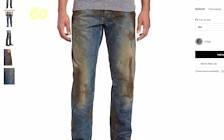 Nordstrom under fire for 'fake muddy jeans'